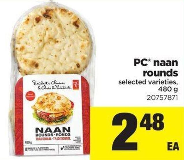 PC Naan Rounds - 480 G