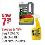 Selected Clr Cleaners