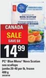 PC Blue Menu Nova Scotian Sea Scallops Jumbo - 20-40 Per Lb - 400 g