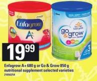 Enfagrow A+ 680 G Or Go & Grow 850 G Nutritional Supplement