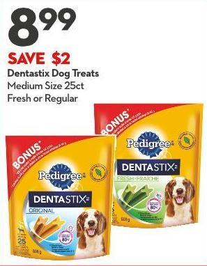 Dentastix Dog Treats Medium Size 25ct Fresh or Regular