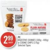 PC Digestive Cookies (300g - 400g) or Cookie Chips (170g)