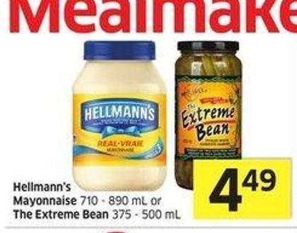 Hellmann's Mayonnaise 710 - 890 mL or The Extreme Bean