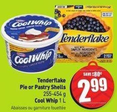 Tenderflake Pie or Pastry Shells 255-454 g Cool Whip 1 L