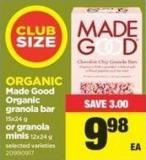 Made Good Organic Granola Bar - 15x24 G Or Granola Minis - 12x24 G
