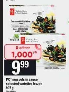 PC Mussels In Sauce - 907 g