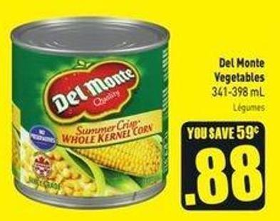 Del Monte Vegetables 341-398 mL