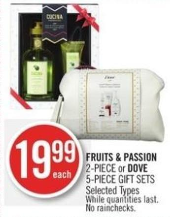 Fruits & Passion 2-piece or Dove 5-piece Gift Sets