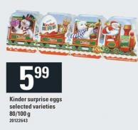 Kinder Surprise Eggs - 80/100 g