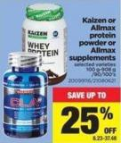 Kaizen Or Allmax Protein Powder Or Allmax Supplements - 100 G-908 g /90/100's