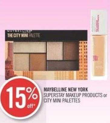 Maybelline New York Superstay Makeup Products