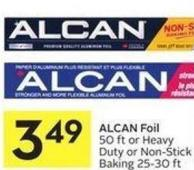 Alcan Foil 50 Ft or Heavy Duty or Non-stick Baking 25-30 Ft