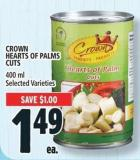Crown Hearts Of Palms Cuts 400 ml