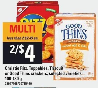 Christie Ritz - Toppables - Triscuit Or Good Thins Crackers - 100-180 g