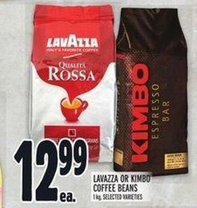 Lavazza or Kimbo Coffee Beans