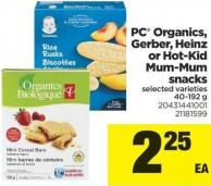 PC Organics - Gerber - Heinz Or Hot-kid Mum-mum - 40-192 g
