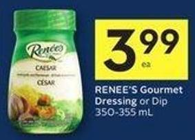 Renee's Gourmet Dressing or Dip 350-355 mL