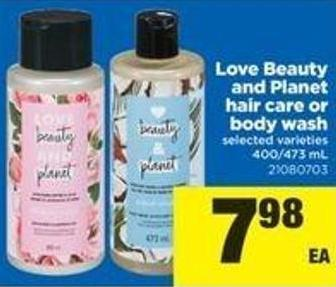 Love Beauty And Planet Hair Care Or Body Wash - 400/473 Ml