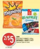 Dare Realfruit Gummies (180g) - Maynards or Kerr's Candy