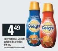International Delight Coffee- Whitener - 946 mL