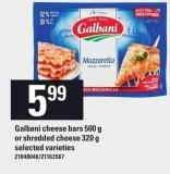 Galbani Cheese Bars 500 G Or Shredded Cheese 320 G