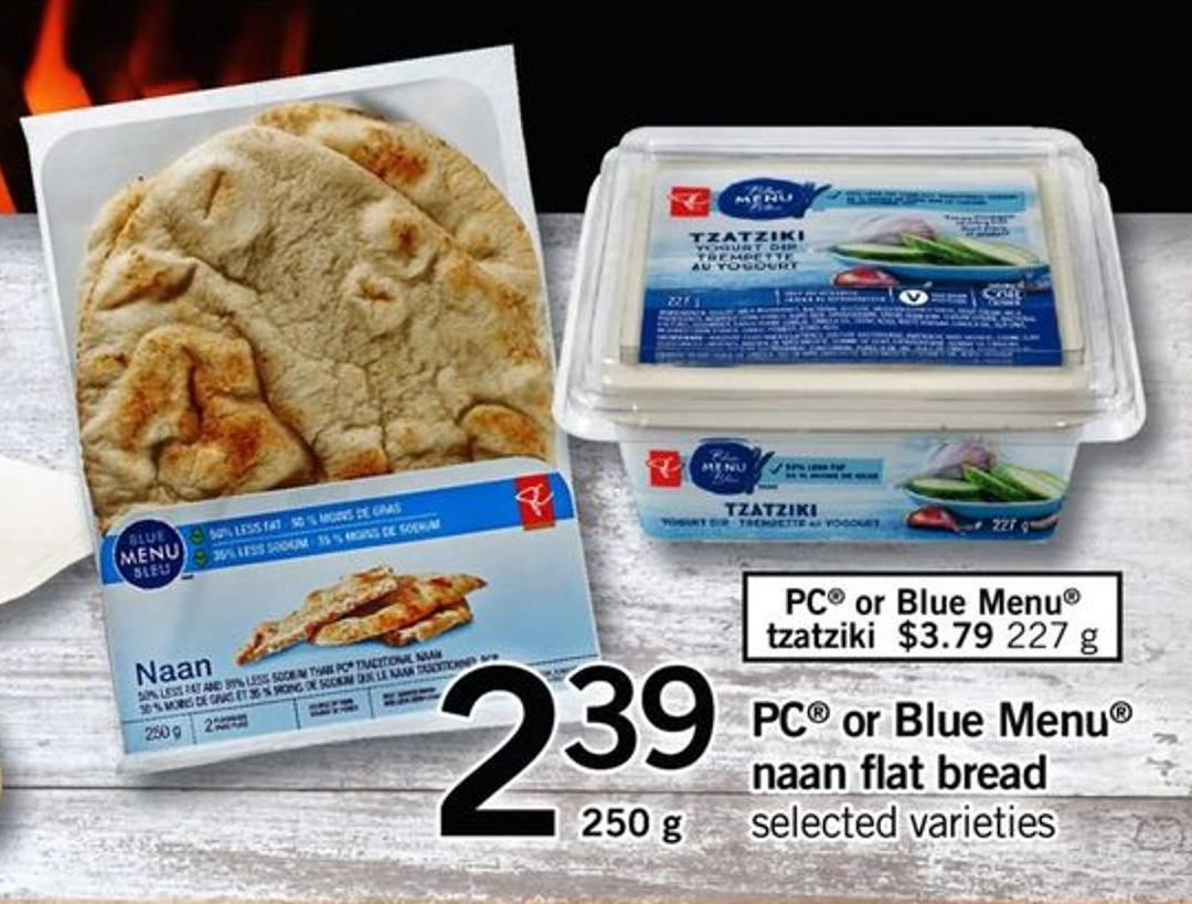 PC Or Blue Menu Naan Flat Bread - 250 G