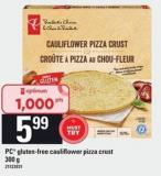 PC Gluten Free Cauliflower Pizza Crust - 300 g
