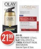 Bio-oil Skin Treatment (125ml) - Olay Total Effects or L'oréal Revitalift Facial Moisturizers