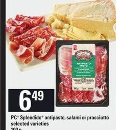 PC Splendido Antipasto - Salami Or Prosciutto - 100 g