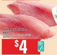 Fresh Asc Tilapia Fillets