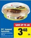 PC Topped Hummus - 280 g
