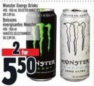Monster Energy Drinks 405 - 550 ml