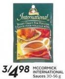 Mccormick International Sauces 30-56 g