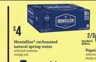 Montellier Carbonated Natural Spring Water - 10x355 mL