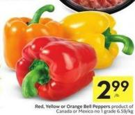 Red - Yellow or Orange Bell Peppers