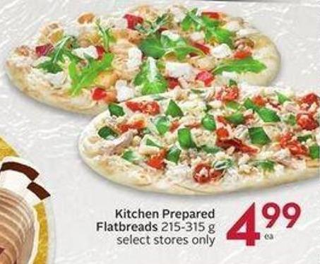 Kitchen Prepared Flatbreads 215-315 g