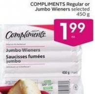 Compliments Regular or Jumbo Wieners