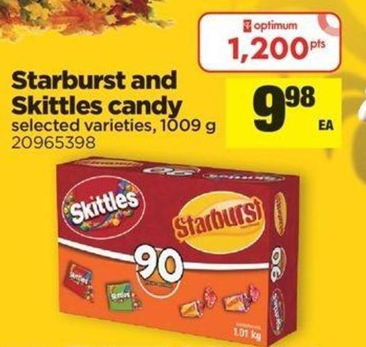 Starburst And Skittles Candy - 1009 g