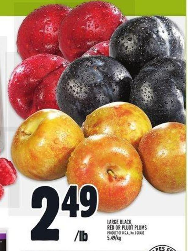 Large Black - Red or Pluot Plums
