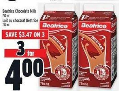 Beatrice Chocolate Milk 750 ml