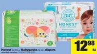 Honest 18-35's Or Babyganics 18-34's Diapers