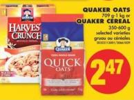 Quaker Oats 709 G-1 Kg or Quaker Cereal 350-600 g