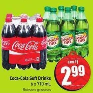 Coca-cola Soft Drinks 6 X 710 mL