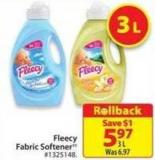 Fleecy Fabric Softner