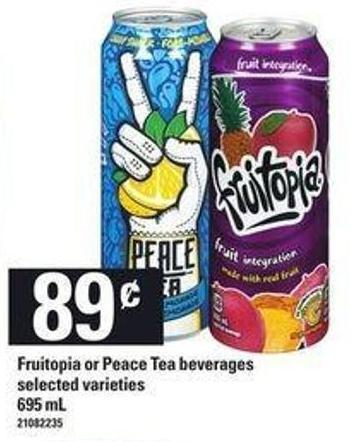 Fruitopia Or Peace Tea Beverages - 695 mL