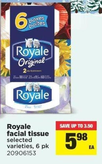 Royale Facial Tissue - 6 Pk