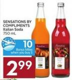 Sensations By Compliments Italian Soda 750 mL - 10 Air Miles Bonus Miles