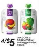 Love Child Organics Fruit and Veggie Purées