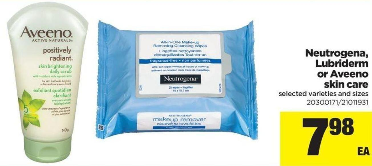 Neutrogena - Lubriderm Or Aveeno Skin Care