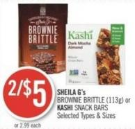 Sheila G's Brownie Brittle (113g) or Kashi Snack Bars